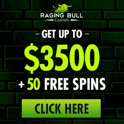 Raging Bull | US | Generic | 350% Bonus + 50 FS