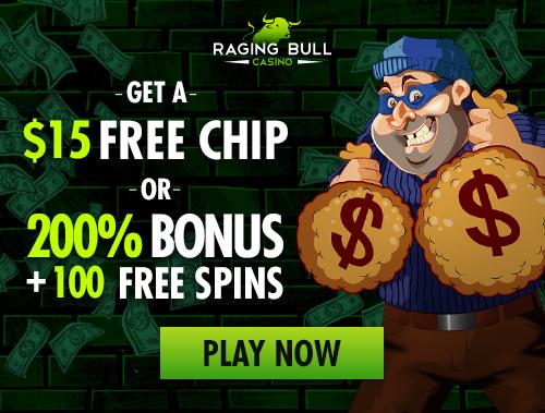 Raging Bull AU | 350% Bonus | $50 Free Chip